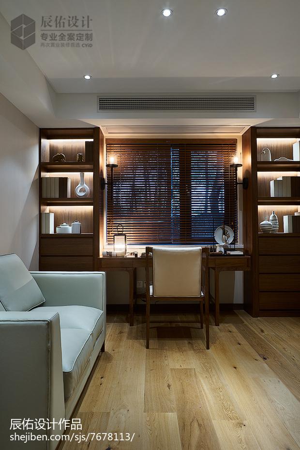 熱門112平米中式復式書房裝修實景圖片大全