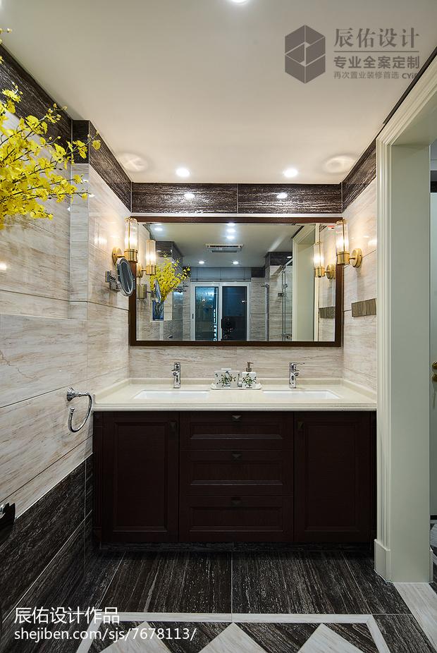 精选面积123平欧式四居卫生间装修欣赏图片