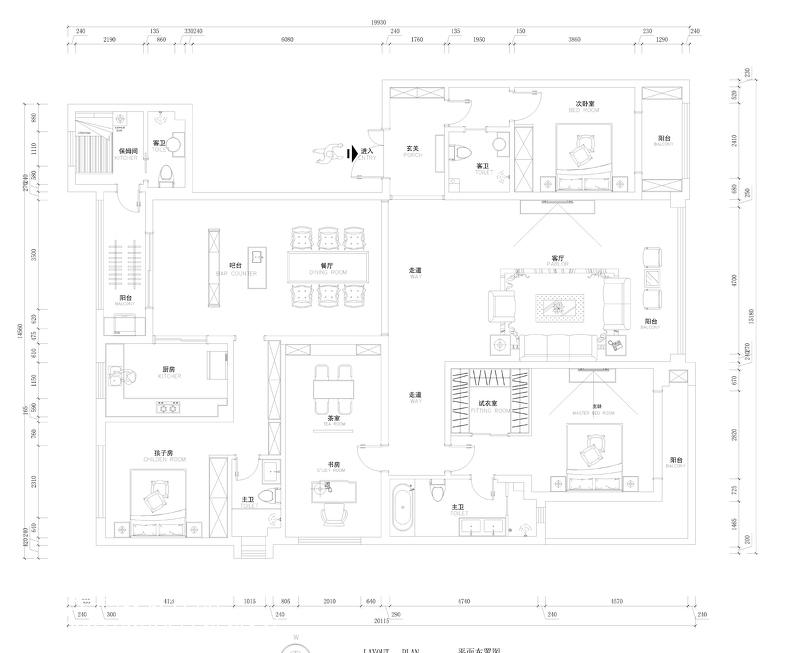 素雅北欧风格客厅装修效果图