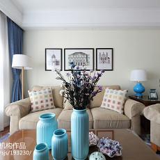 精选面积97平美式三居客厅效果图片大全