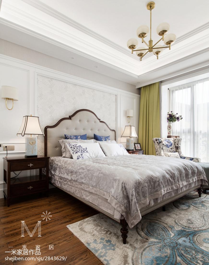 轻奢122平美式三居装修案例