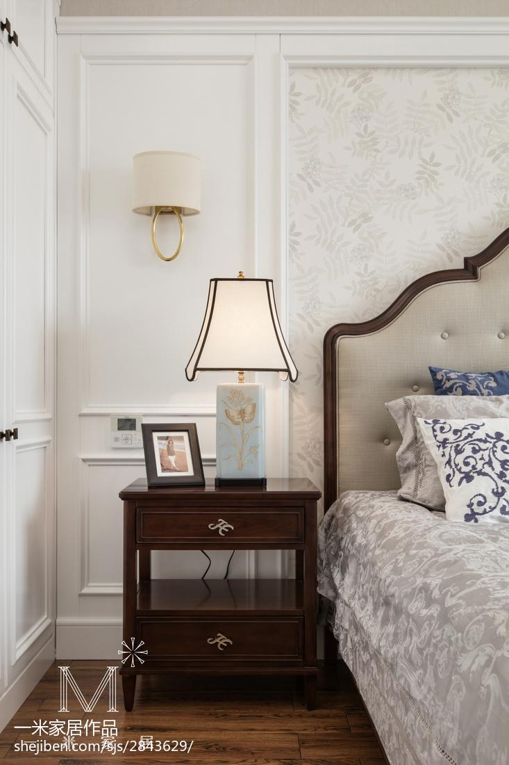 明亮109平美式三居卧室实拍图
