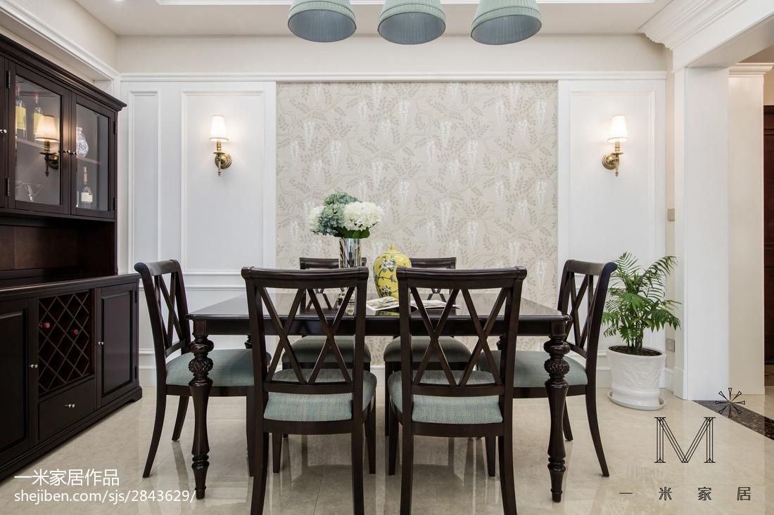 温馨72平美式三居餐厅图片欣赏