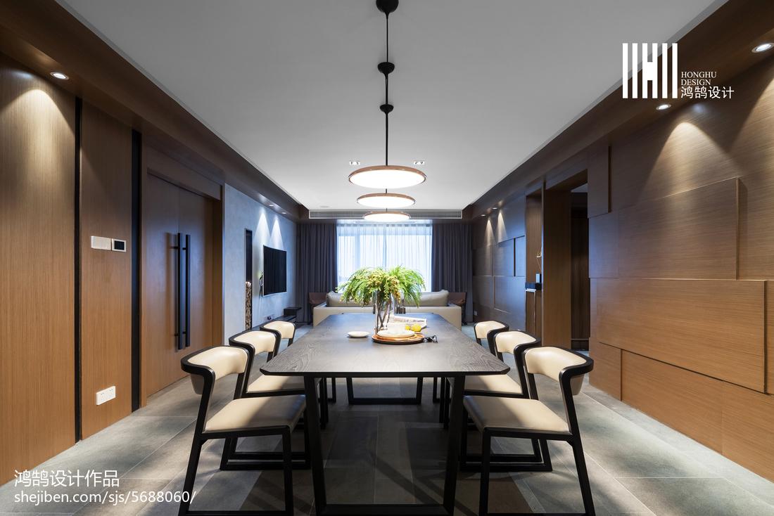 2018面积122平现代四居餐厅装修效果图片大全