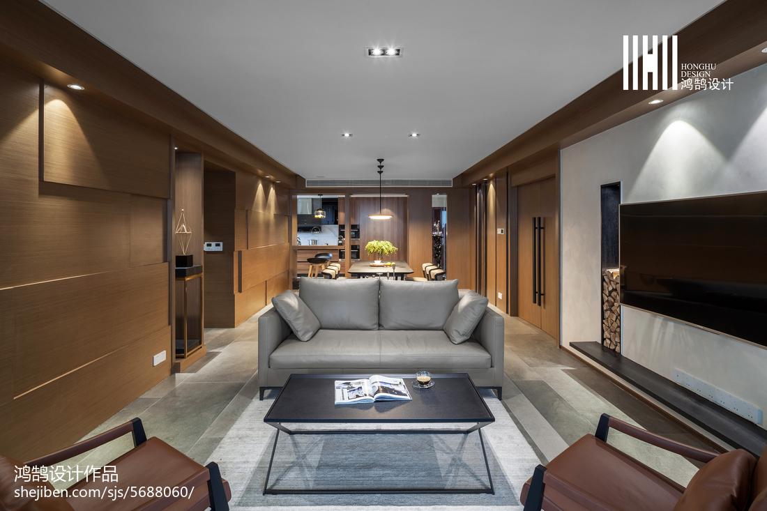 精选面积128平现代四居客厅欣赏图片大全