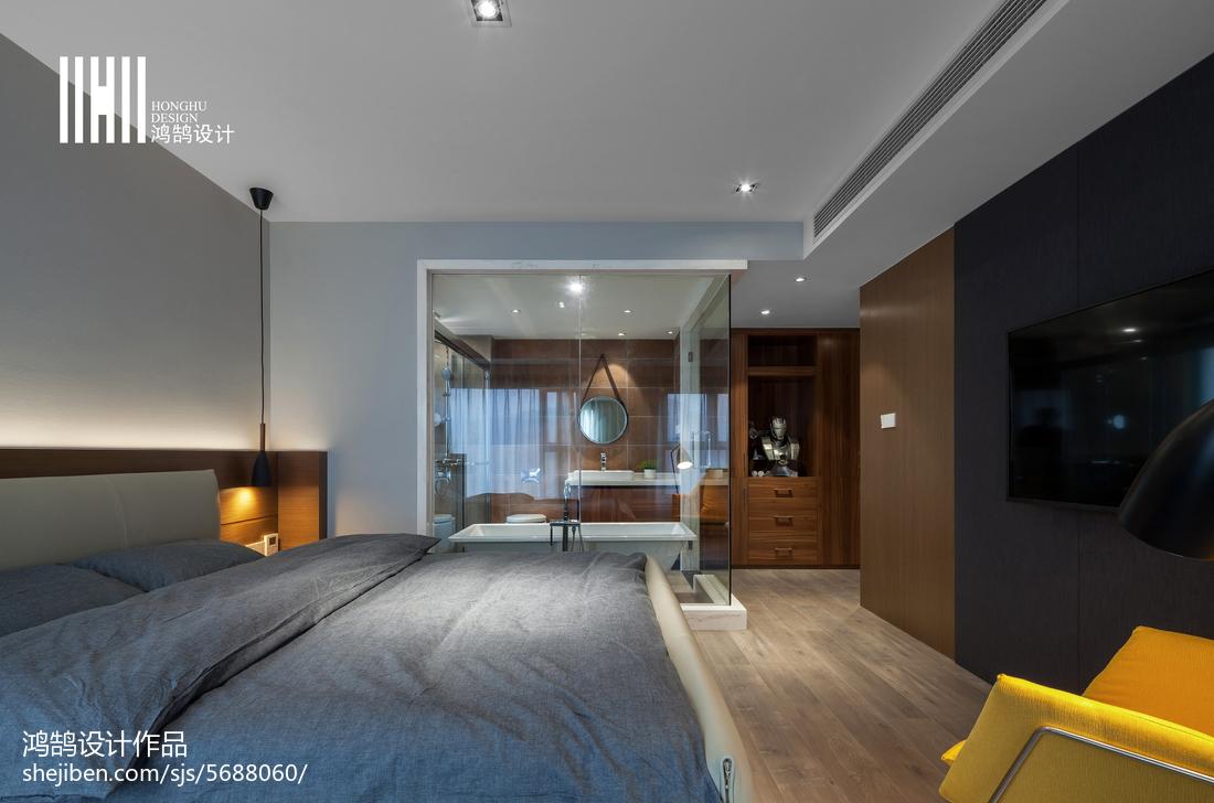 热门120平米四居卧室现代装饰图
