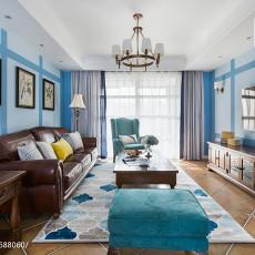 98平米三居客厅美式装修图片
