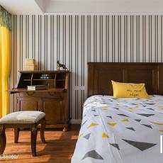 精美90平米三居卧室美式装修效果图片欣赏