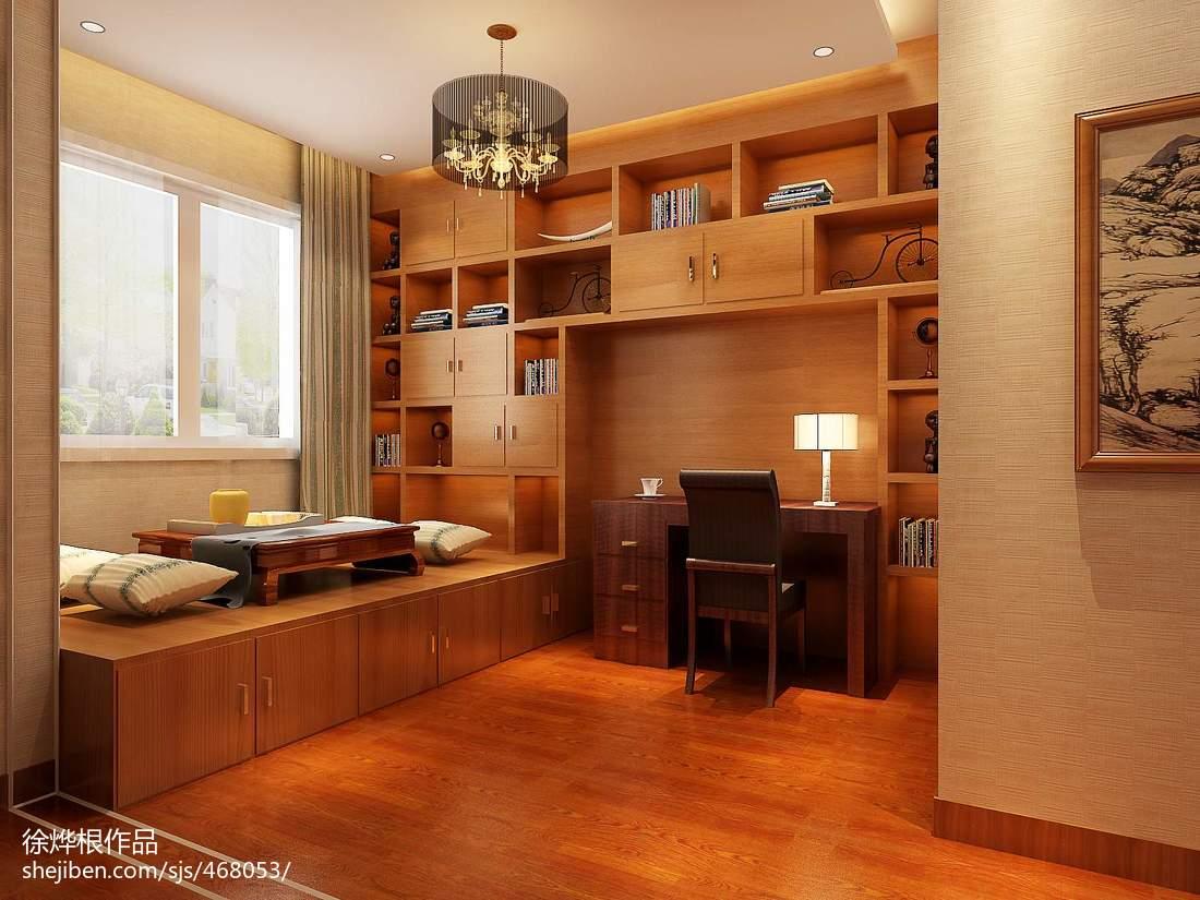 119平米日式别墅书房装修欣赏图片