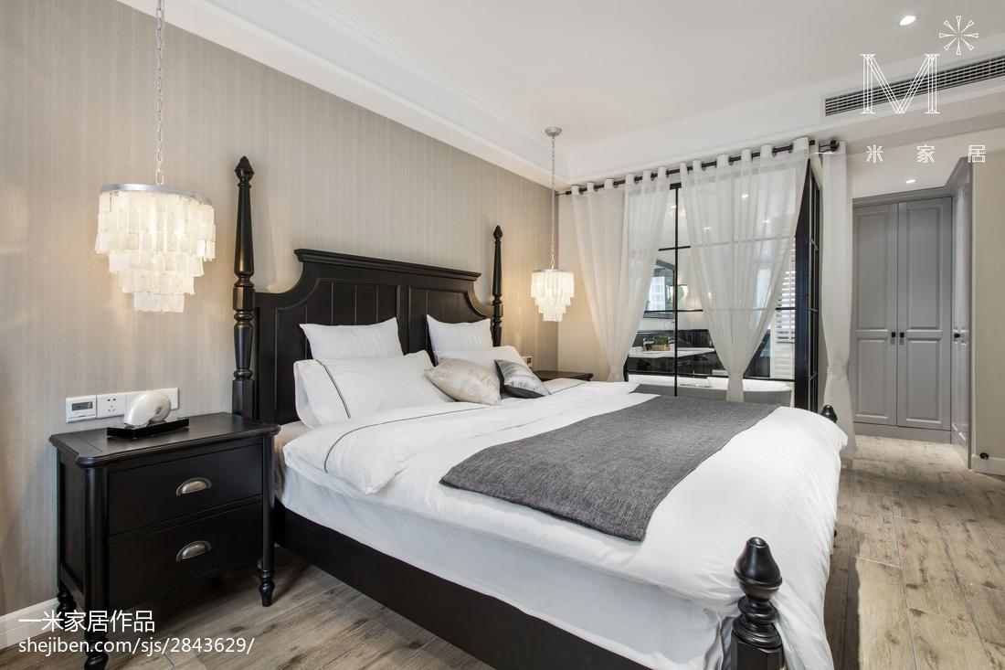华丽113平美式三居卧室装修美图