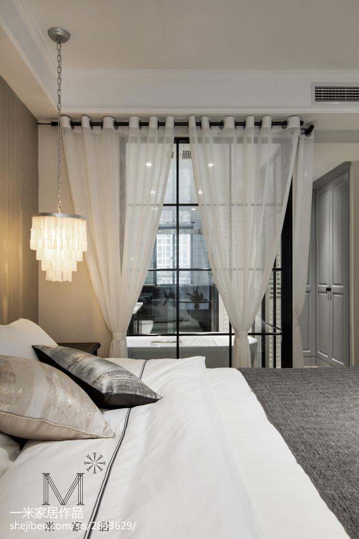 温馨86平美式三居卧室实拍图