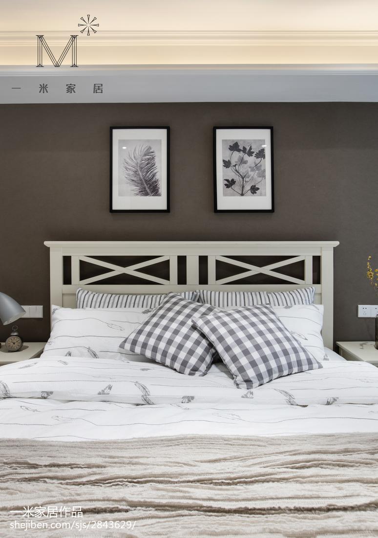 精美120平美式三居卧室效果图欣赏