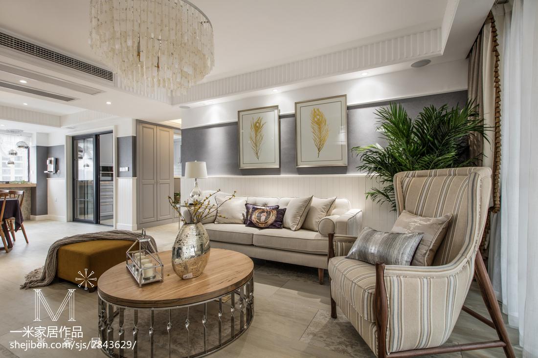 美式公寓客厅效果图