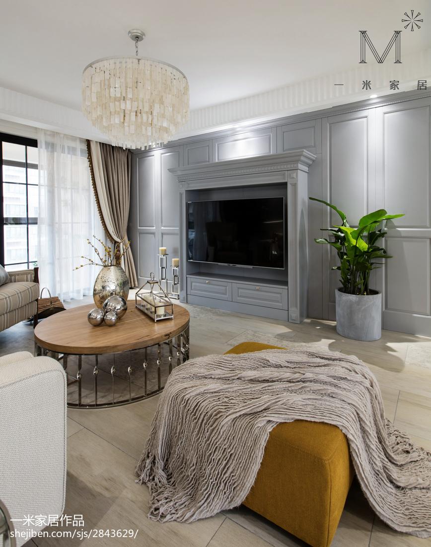 大气92平美式三居装修设计图