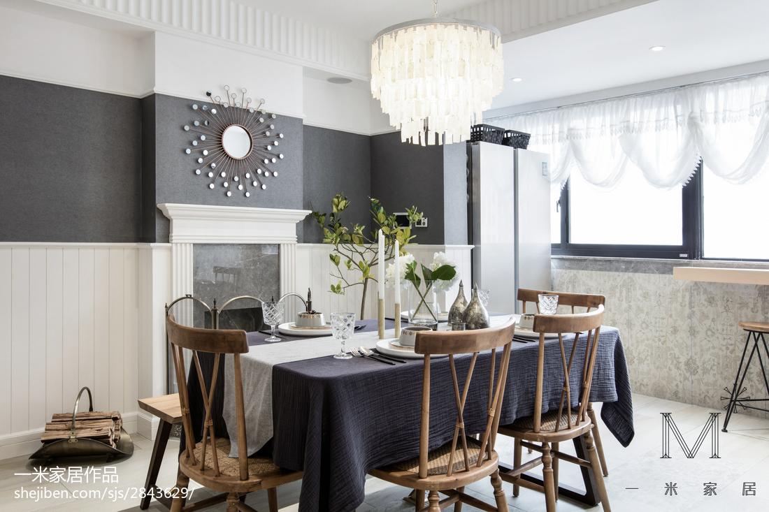 华丽93平美式三居餐厅设计效果图