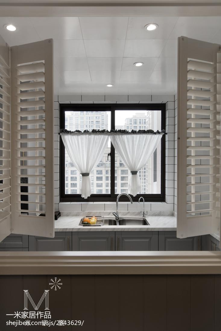 温馨101平美式三居厨房装潢图