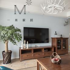 精美101平方三居客厅美式装修实景图片大全