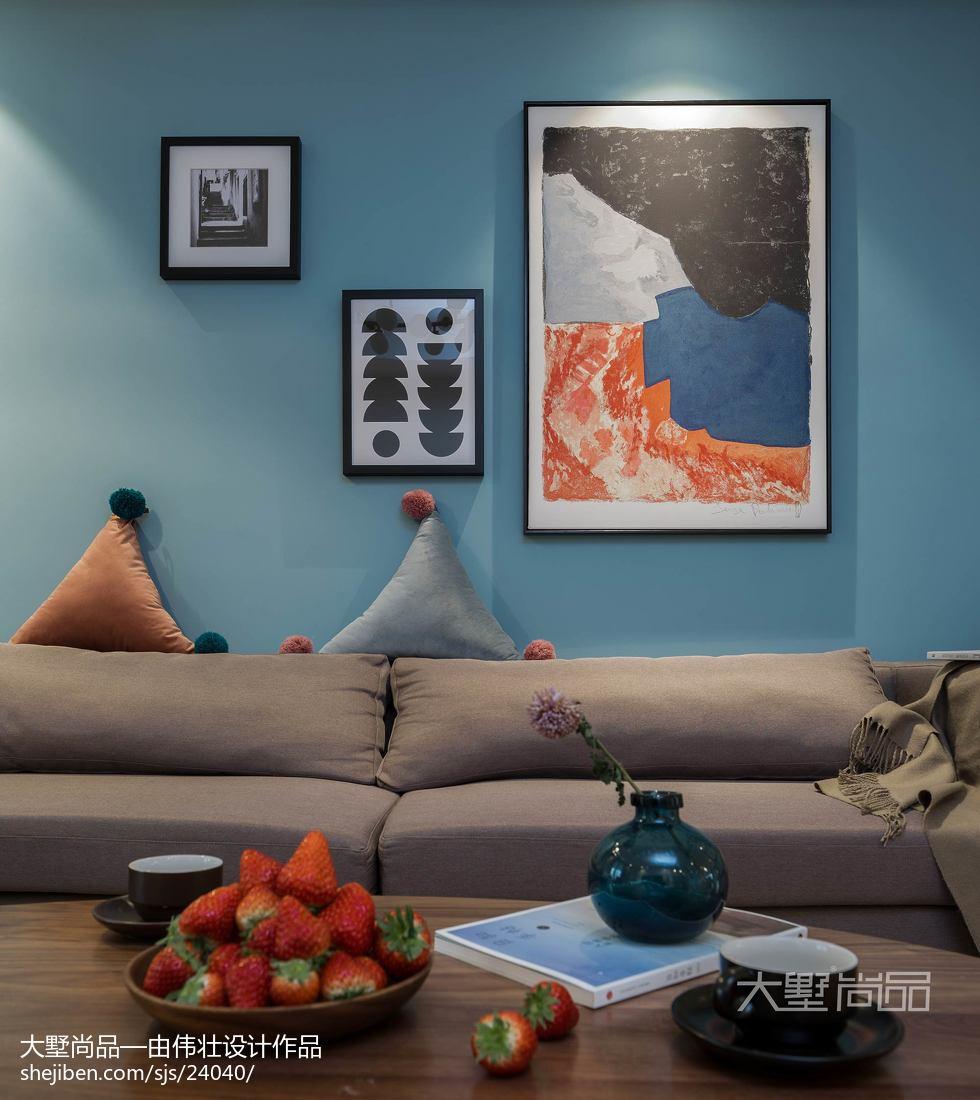 热门面积106平北欧三居客厅装修设计效果图片欣赏