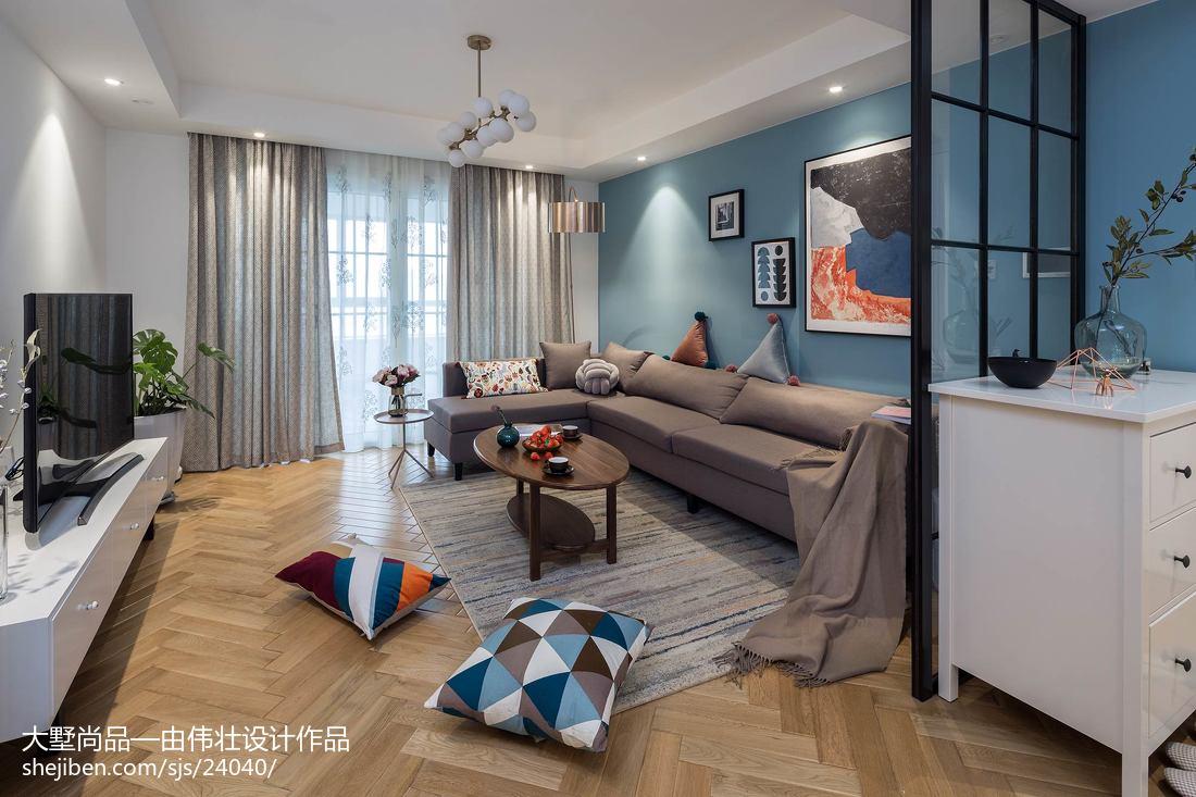 2018大小101平北欧三居客厅装修效果图