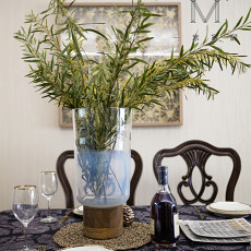 精选面积98平美式三居餐厅装修欣赏图片