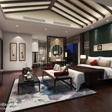 热门面积144平别墅卧室中式装修设计效果图片欣赏