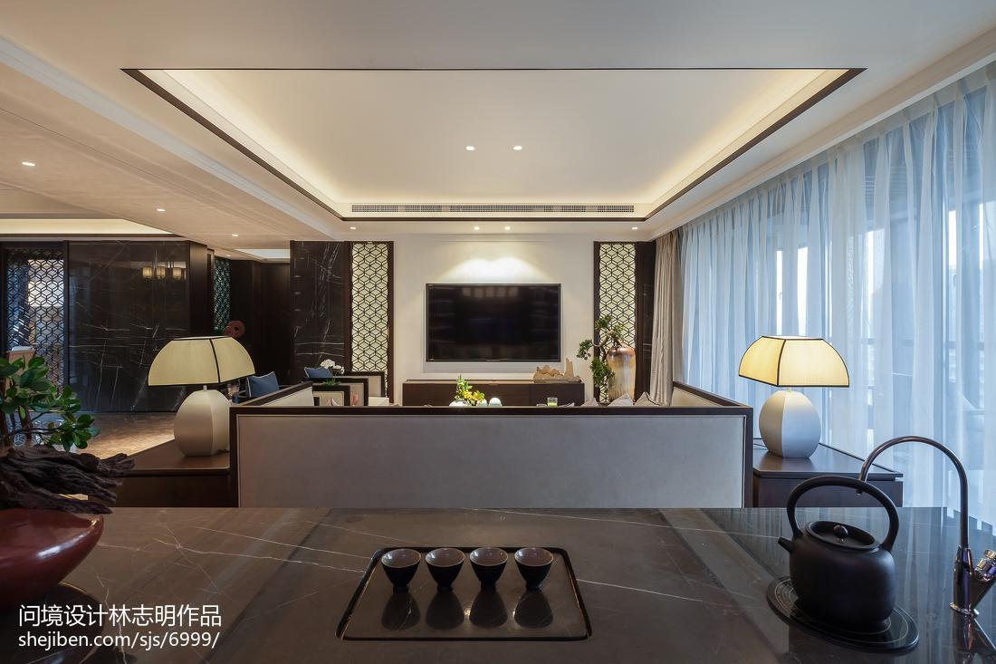 精美面积95平中式三居客厅装饰图片大全