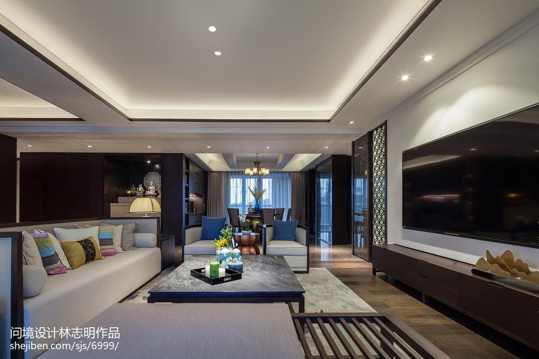 精选面积98平中式三居客厅实景图片欣赏