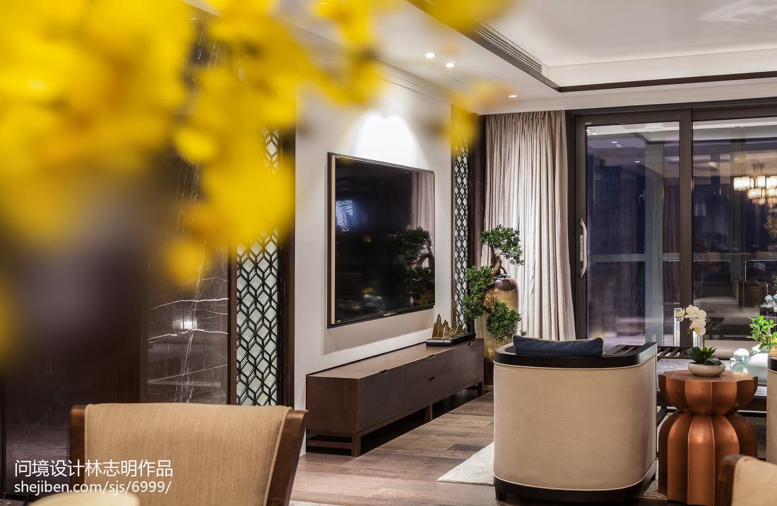 热门98平米三居客厅中式实景图
