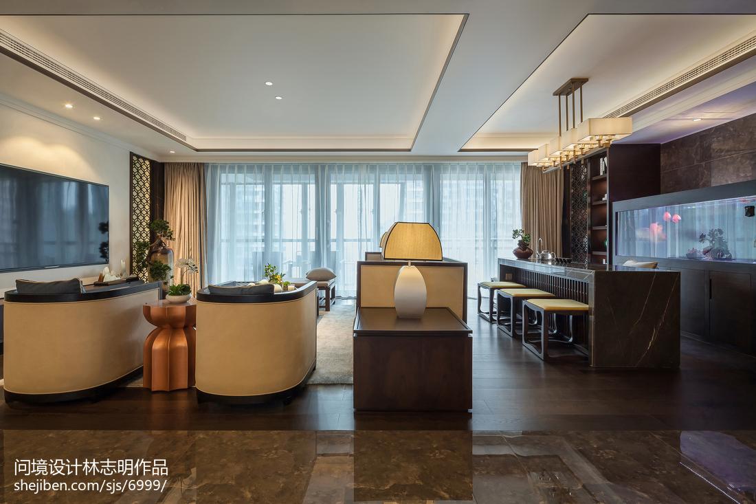 2018精选94平米三居客厅中式实景图