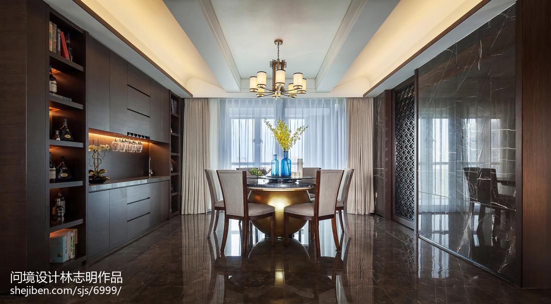 2018103平米三居餐厅中式装修欣赏图