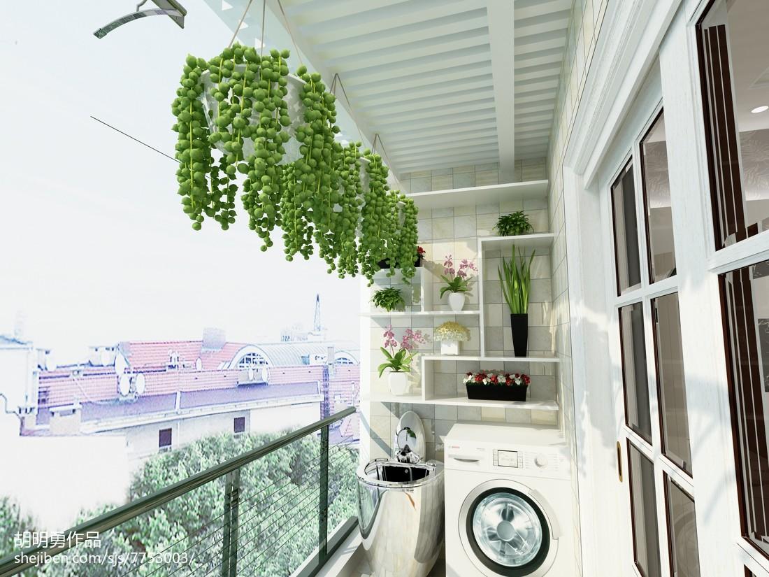 2018精选三居阳台现代装修设计效果图片