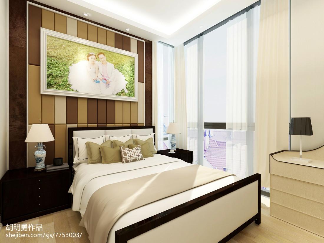 精美101平米三居卧室现代装修设计效果图片大全