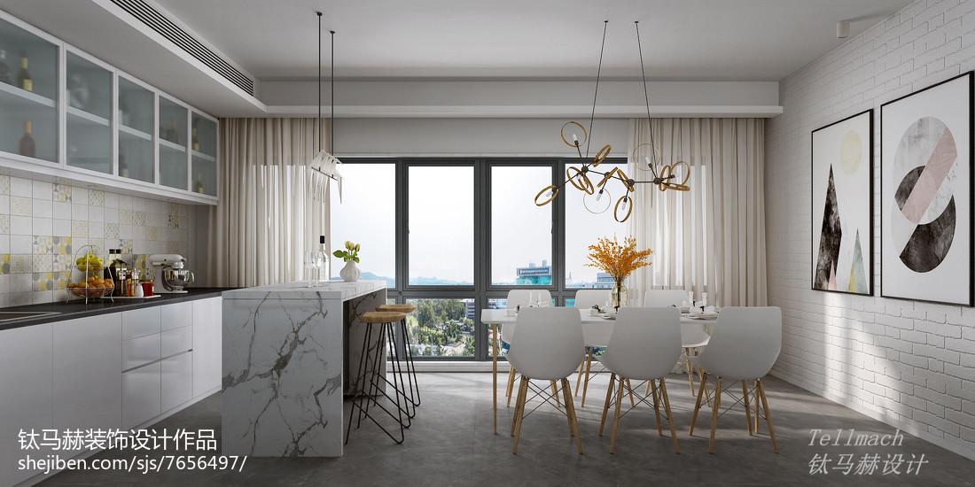 2018精选72平米二居餐厅简欧装修效果图片大全