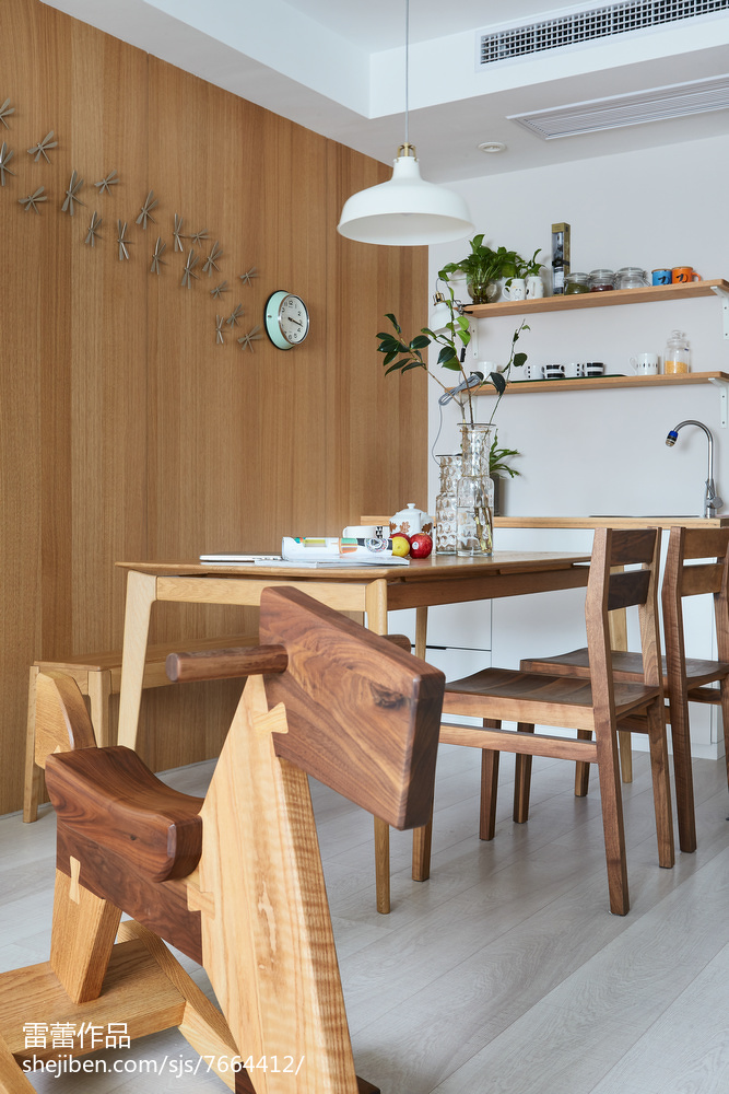 2018109平米三居餐厅北欧装修效果图片欣赏