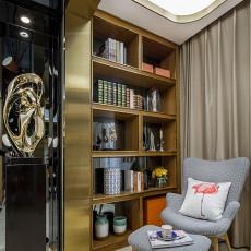现代风格休闲区书架设计