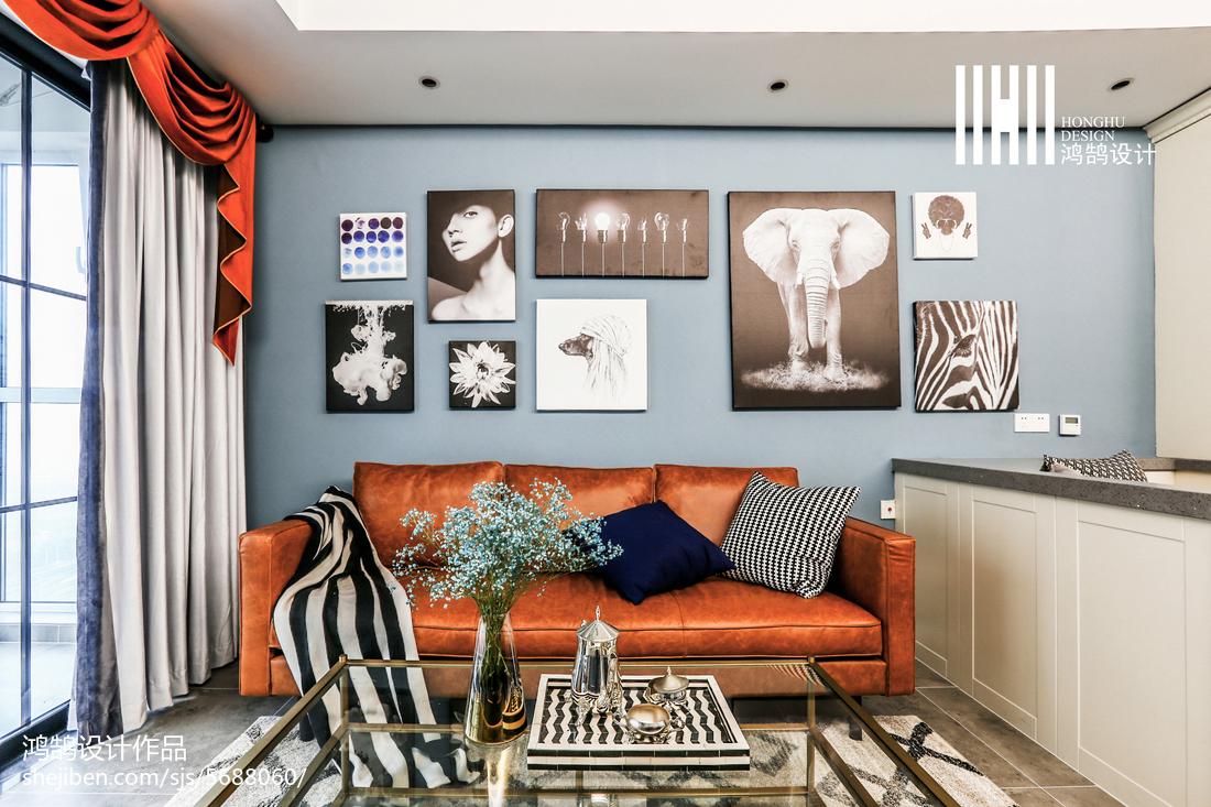 精选大小95平美式三居客厅装修设计效果图片大全