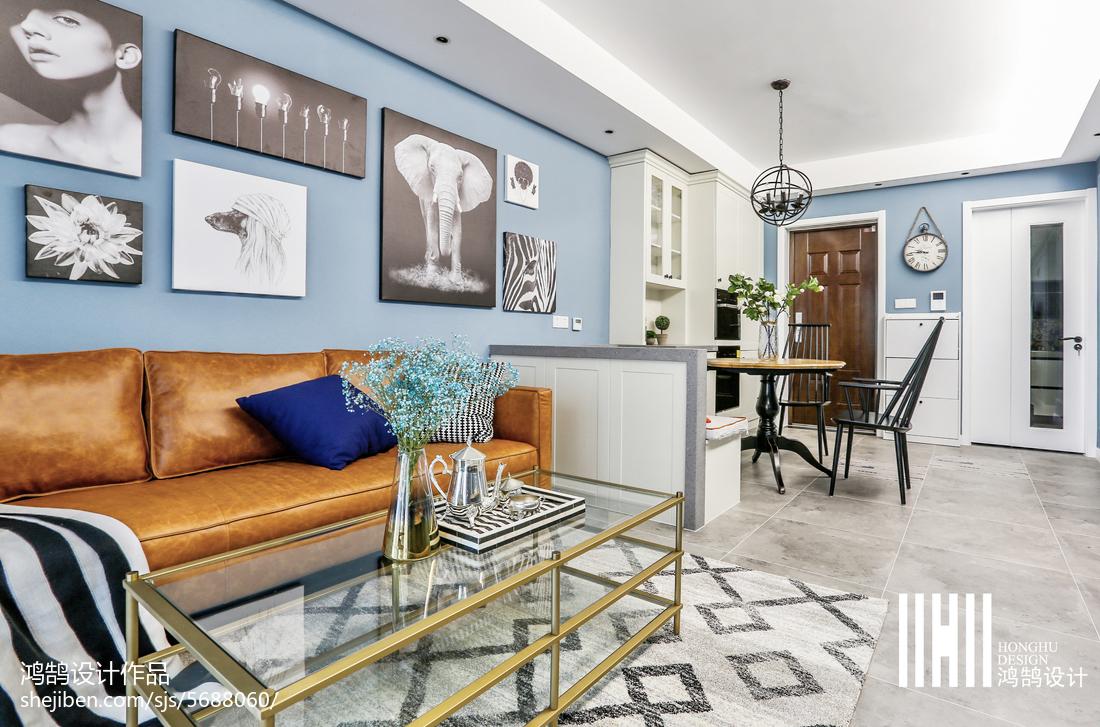 精美92平方三居客厅美式欣赏图片大全