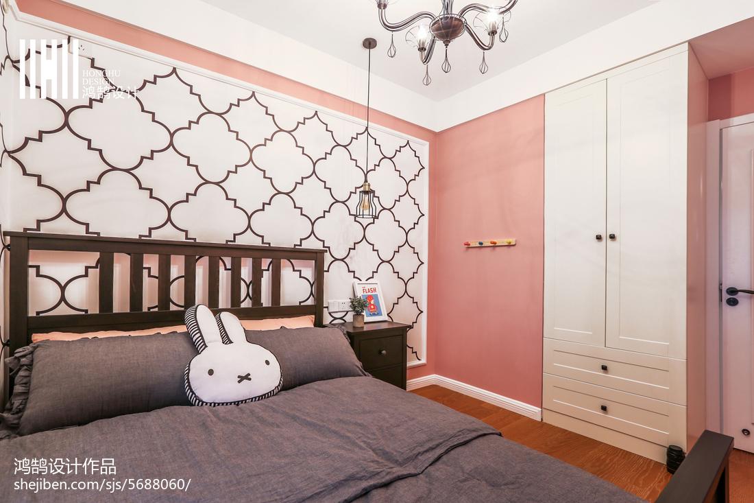 2018面积103平美式三居儿童房装饰图片大全