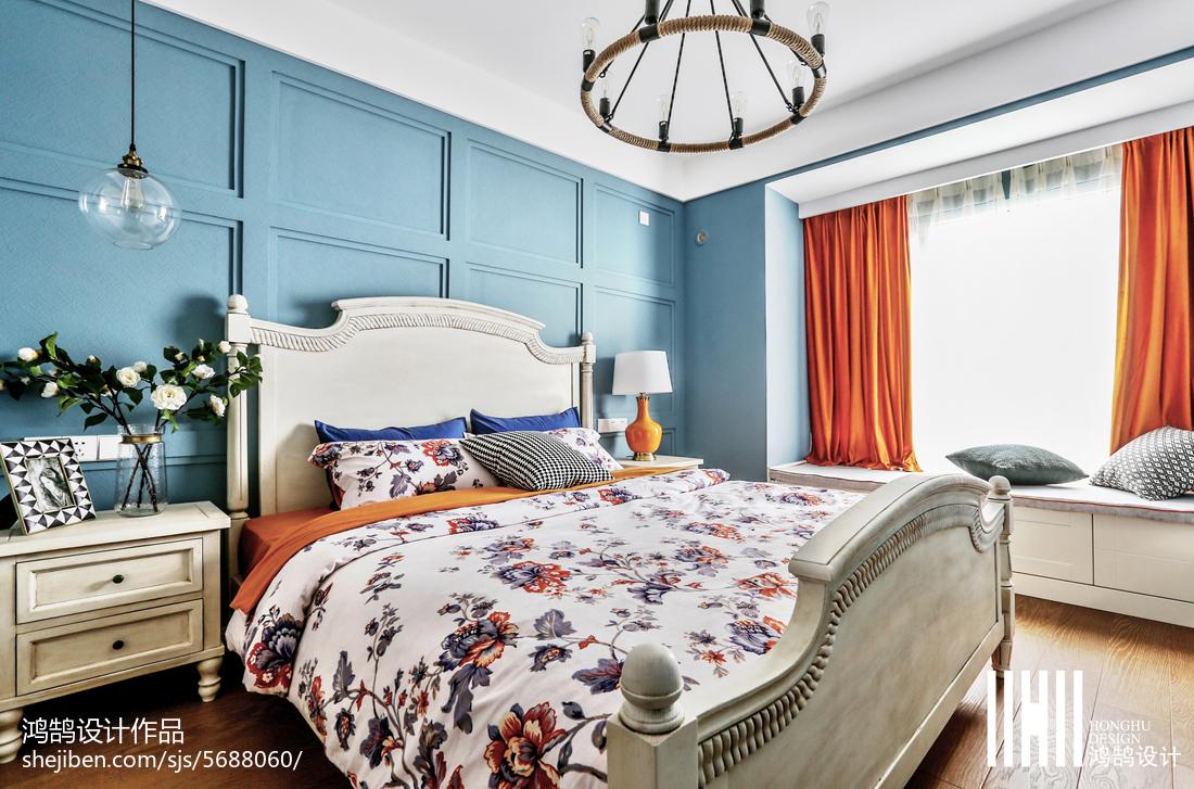 精选大小97平美式三居卧室装修设计效果图片大全