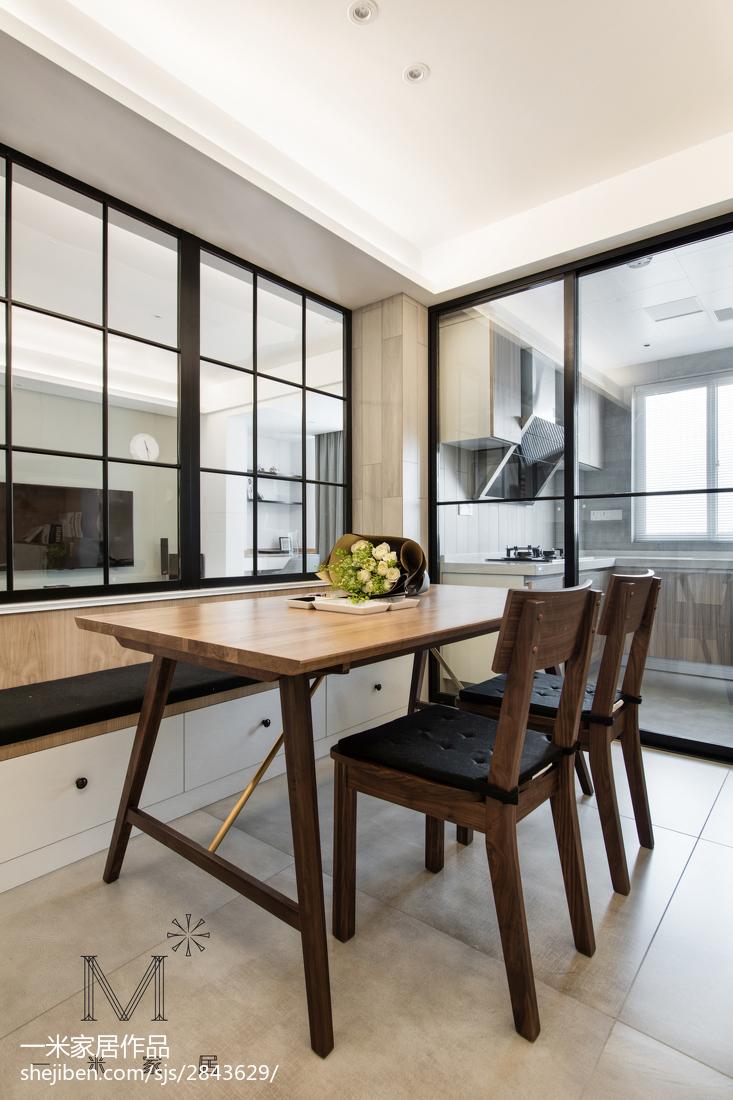 北欧风格餐厅实木桌椅