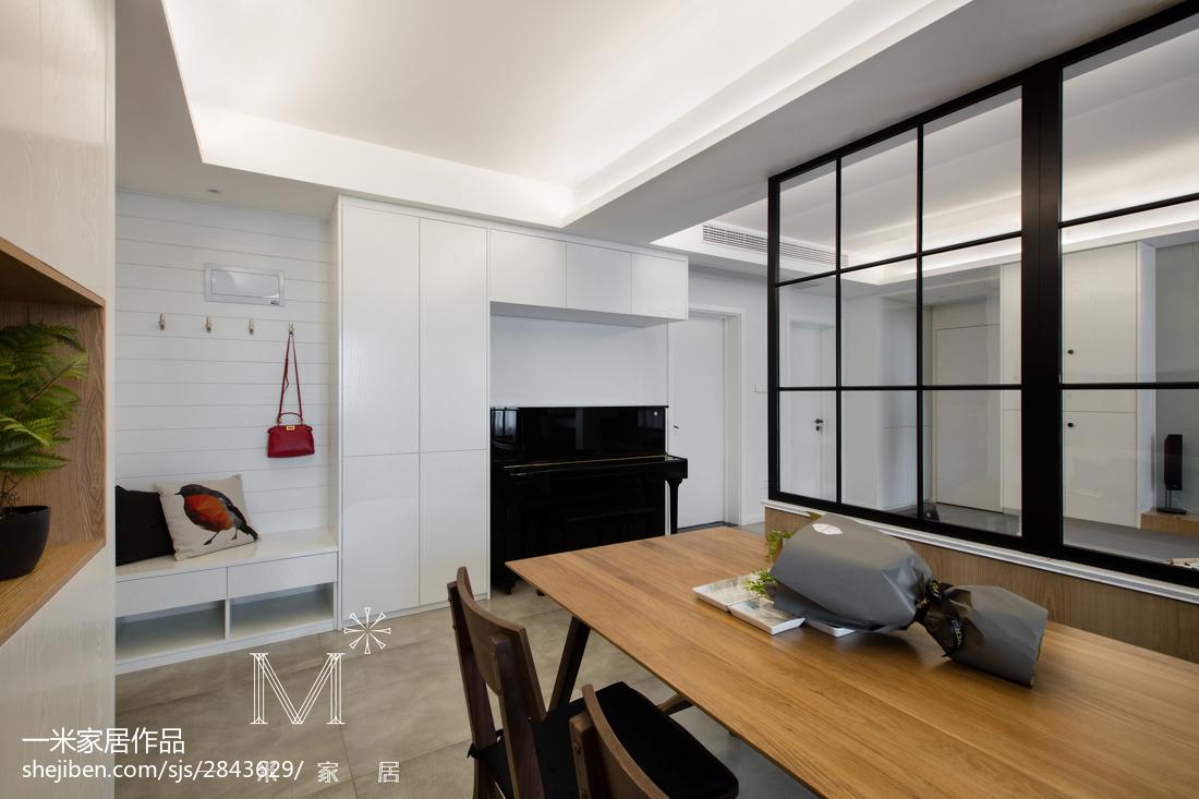 2018精选103平米三居餐厅北欧装修实景图片