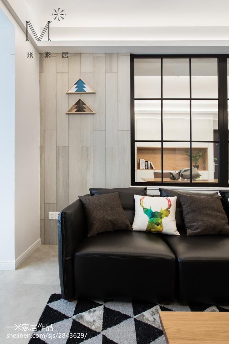精美面积92平北欧三居客厅装修欣赏图片大全