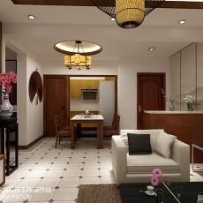 中式风格客厅摆设效果图