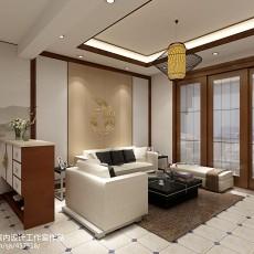 现代简约客厅电视柜背景墙装修效果图