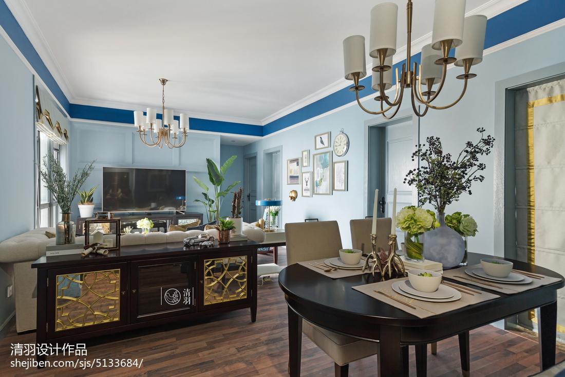 109平米三居客厅美式装修设计效果图