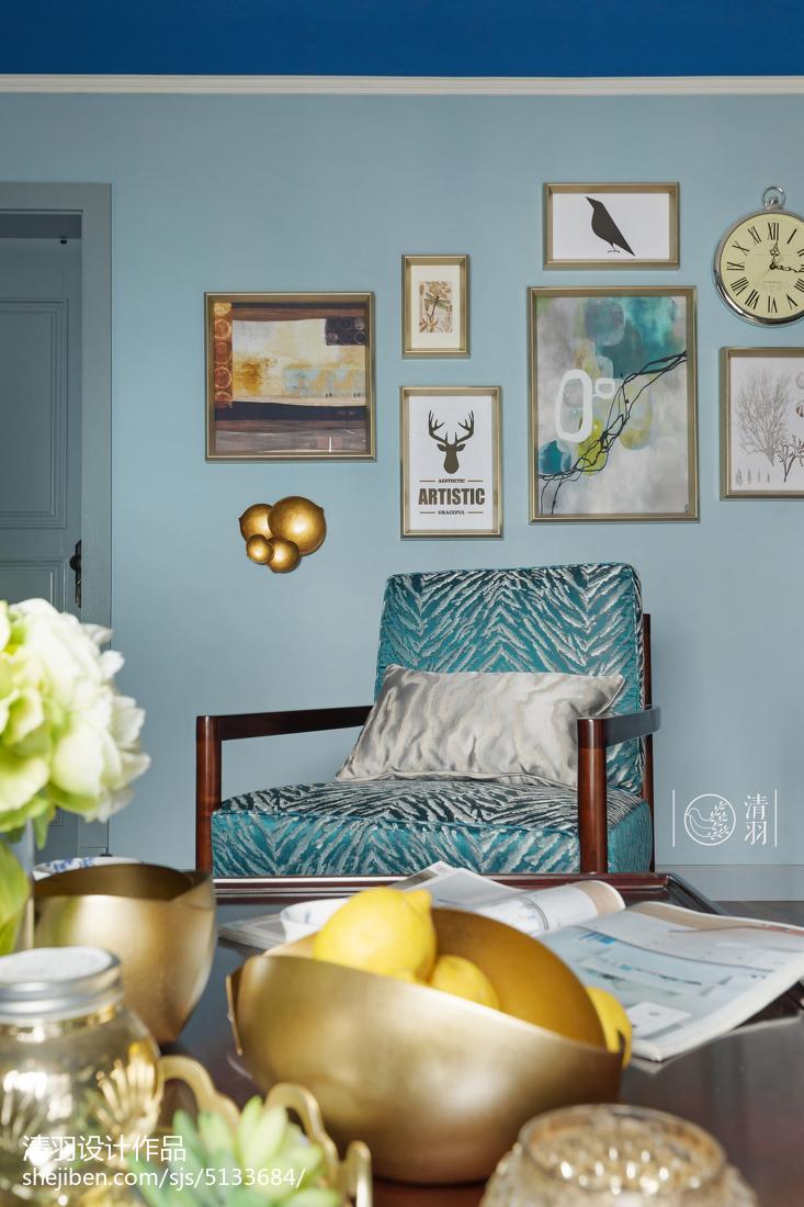 精美99平米三居客厅美式装修欣赏图片
