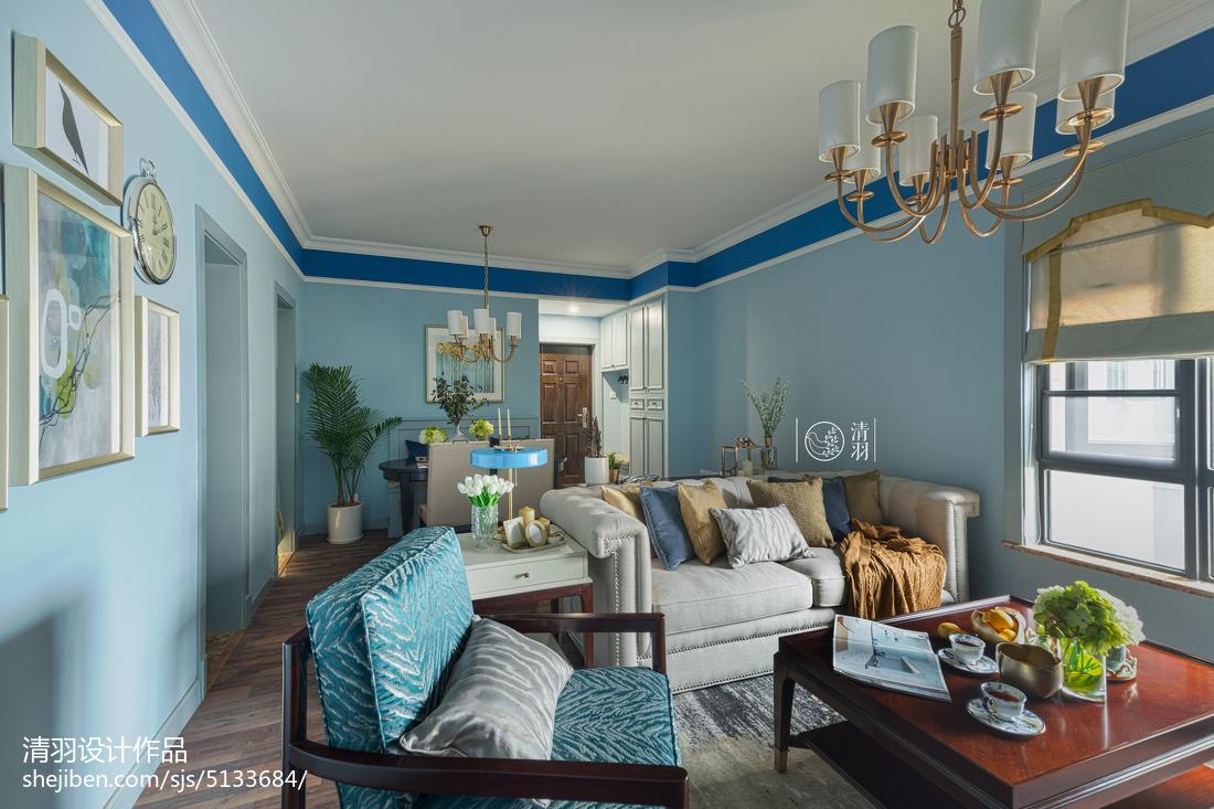 热门103平方三居客厅美式装修欣赏图