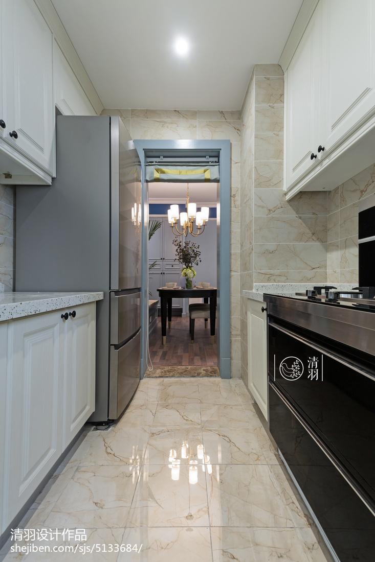 美式簡潔廚房裝修