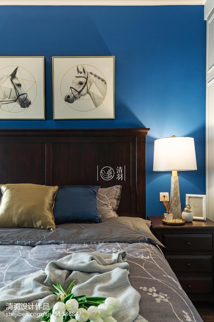2018精选面积103平美式三居卧室装修效果图