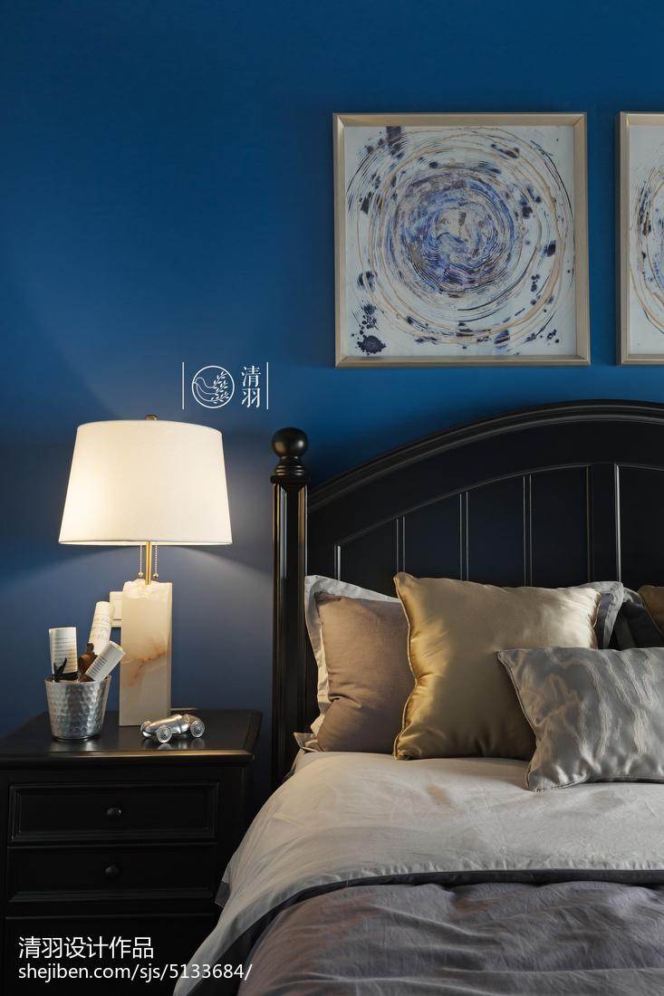 热门大小101平美式三居卧室装修效果图